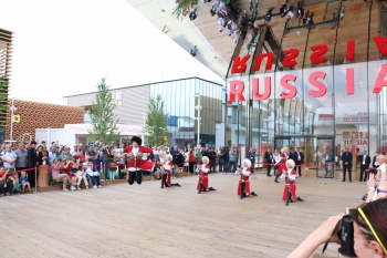 "State Academic Honored Dance Ensemble of Dagestan ""Lezginka"" had the honor to represent Russia at the ""Expo 2015"" in Milan."